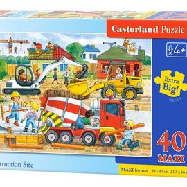 Castorland Castorland Bouwplaats (40 maxi stukjes)