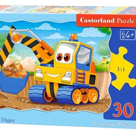 Castorland Castorland puzzel Gele graafmachine (30 stukjes)