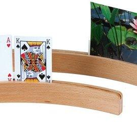Hotgames Kaartenlat (kaarthouder) hout, gebogen 35 cm