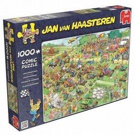 Jumbo Jan van Haasteren puzzel - Grasmaaierrace ( 1000 stukjes)
