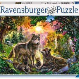 Ravensburger Ravensburger puzzel Wolvenfamilie in zonlicht (500 stukjes)