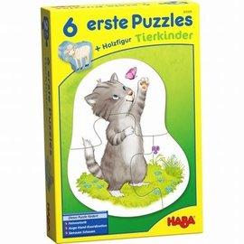 Haba Haba 303309 ---- 6 eerste puzzels - Dierenkinderen