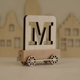 Houtlokaal Houten Lettertrein Letter M