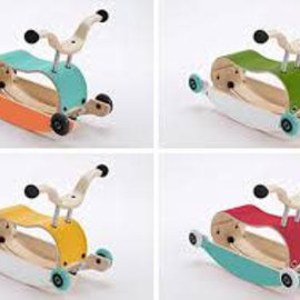 Wishbone Wishbone Mini Flip geel/aqua - groene wielen