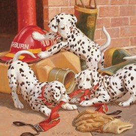 Cobble Hill Cobble Hill puzzel Dalmation Firehouse (400 XL stukjes)