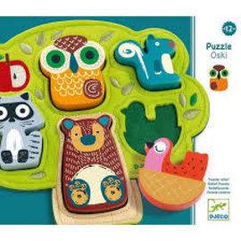 Djeco Djeco 1039 Relief Puzzle - Oski