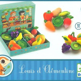 Djeco Djeco 6621 Rollenspel - Louis en Clementine's houten fruit
