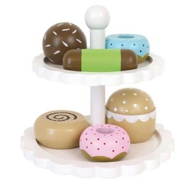Jabadabado Jabadabado houten cakestandaard met taartjes