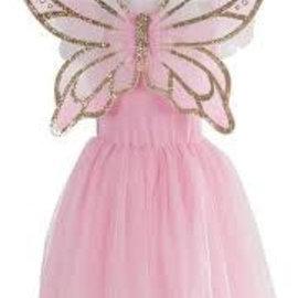 Great Pretenders Gouden vlinder jurk met vleugels maat M