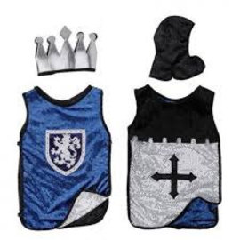 Great Pretenders Koning en ridder reversible blauw zilver maat M