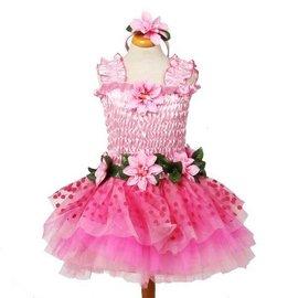 Great Pretenders Feeën jurk roze met vleugeks en haarband maat M
