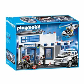 Playmobil Playmobil - Politiepost met  voertuigen (9372)