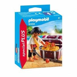 Playmobil Playmobil - Piraat met schatkist (9358)