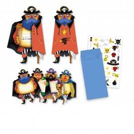 Djeco Djeco 4784 Verjaardag uitnodigingskaarten - Piraten