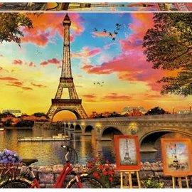 Educa Educa puzzel Zonsondergang in Parijs 3000 stukjes