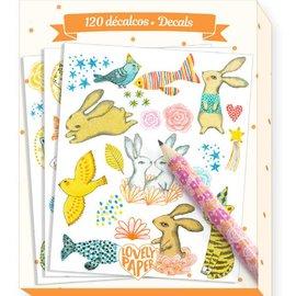 Djeco Djeco 3681 Krasplaatjes dieren met kraspotlood