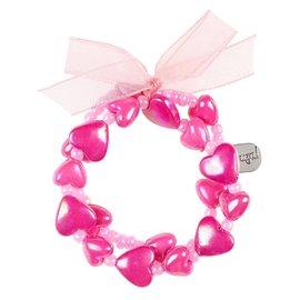 Phanine Armband Aya, hartjes roze-fuchsia
