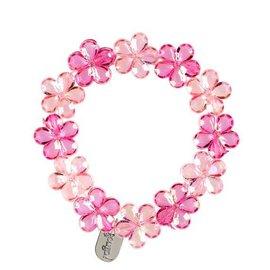 Souza Armband Fern, bloemenkralen roze