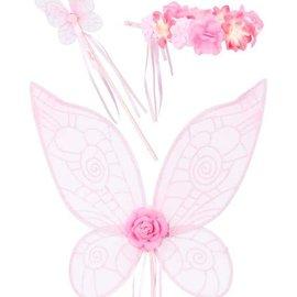 Phanine Elf set Terray, vleugels-toverstaf-halo, roze