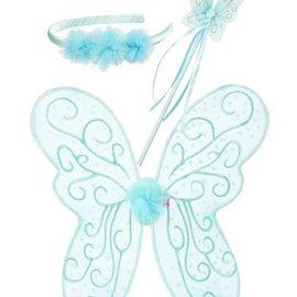 Phanine Elf set Francine, vleugels-toverstaf-Diadeem, mint