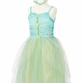 Phanine Josiane jurk + losse vleugels + halo, (3-4 jaar), rok lengte 44 cm