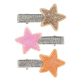 Phanine Haarclip Stars, goud-roze-koraal (3 stuks/kaart)