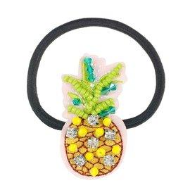 Phanine Haar elastiek Ananas, groen-geel (1 stuk)