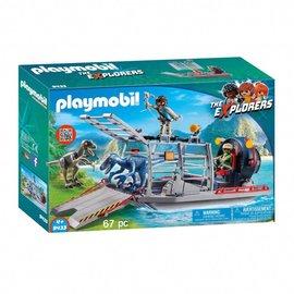Playmobil Playmobil - Luchtkussenboot met dinokooi (9433)