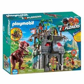 Playmobil Playmobil - Basiskamp explorers met T-rex (9429)