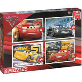 Jumbo Jumbo Puzzel Disney Cars3  4in1