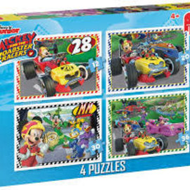 Jumbo Jumbo puzzel Disney Mickey en  Roadracers 4in1