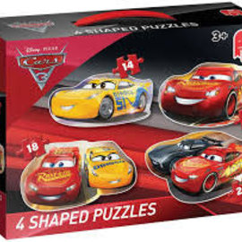 Jumbo Jumbo puzzel Shaped  4in1 Cars3