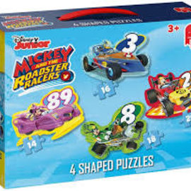 Jumbo Jumbo puzzel Shaped 4in1 Mickey en Roadracers