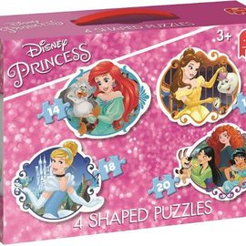 Jumbo Jumbo puzzel Shaped 4in1 Disney Princess