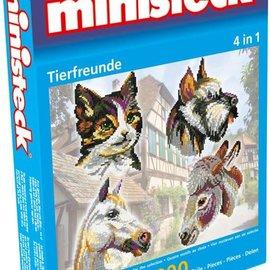 Ministeck Ministeck Dierenvrienden 4in1. ca. 1800 stukjes