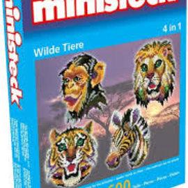Ministeck Ministeck Wilde dieren 4in1. ca. 1600 stukjes
