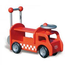 vilac Loopauto rood brandweerwagen