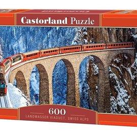 Castorland Castorland Landwasser viaduct, Zwitserse alpen (600 stukjes)