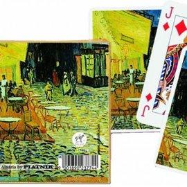 Vincent van Gogh cafeterras bij nacht speelkaarten - double deck