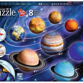 Ravensburger Ravensburger 3D puzzel Planeten systeem (8 puzzels, totaal 522 stukjes)
