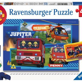 Ravensburger Ravensburger puzzel Brandweerman Sam - In actie! (2x 24 stukjes)