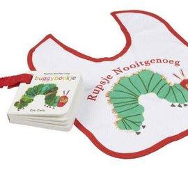 Boek Rupsje nooitgenoeg (buggyboek + slabbetje)