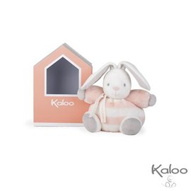 Kaloo Kaloo Bebe pastel knuffelkonijn perzik/wit klein