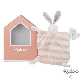 Kaloo Kaloo bebe pastel - Doudou konijn perzik /wit