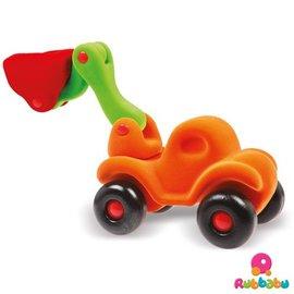 Rubbabu Rubbabu - Bully de Bulldozer large (oranje)