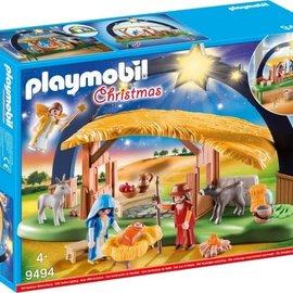 Playmobil Playmobil - Kerststal met heldere ster (9494)