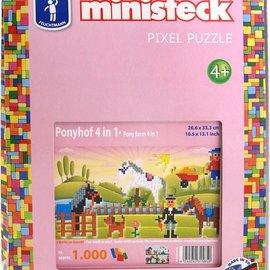 Ministeck Ministeck- Pony's 4 in 1. ca. 1000 stukjes