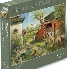 Marius van Dokkum puzzel - Kippenhok (1000 stukjes)