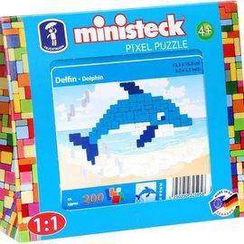 Ministeck Ministeck Dolfijn (ca. 200 stukjes, 13,3 x 13x3 cm)