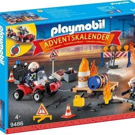 Playmobil Playmobil - Adventskalender interventie op de bouwwerf (9486)